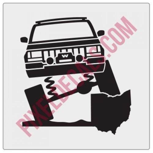 Rock and Roll City Offroad ZJ Fender Decal