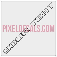"""Customizable """"Rubi JK Hard Rock"""" OUTLINE ONLY Hood Lettering Decals (Pair)"""