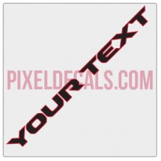 "Customizable ""Rubi JL"" Hood Lettering Decals (Pair)"