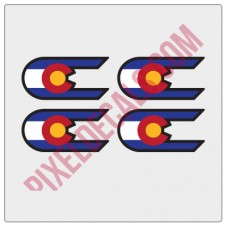 "Colorado ""C"" Replacement for Hard Rock Decals"