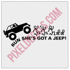 Run She's Got a Jp Decal