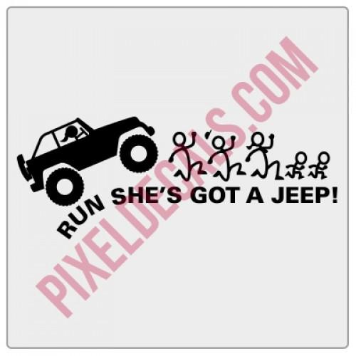 Run She's Got a Jp Decal