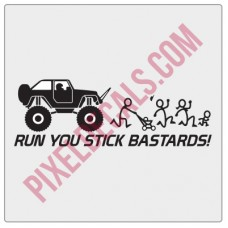 Run You Stick Bastards! Monster 2 Door JK Decal