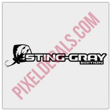 Sting-Gray Edition Decal (Pair)