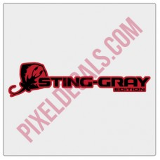 JL Sting-Gray Edition Decal 2-color (Pair)