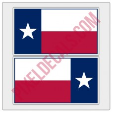 Texas Flag Decals - Color