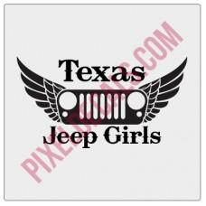 Texas Jp Girls Decal