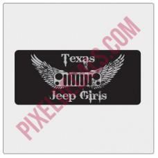 Texas Jp Girls Small Sticker - Silver