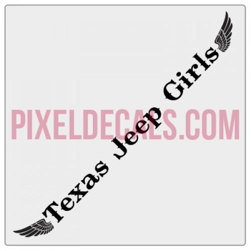 Texas Jp Girls Banner w/Wings