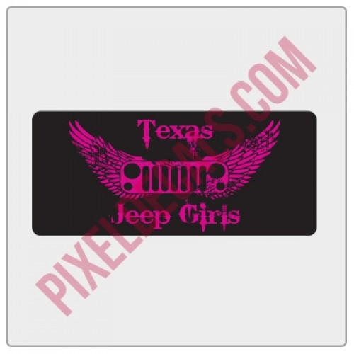 Texas Jp Girls Small Sticker - Pink