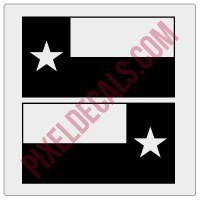 Texas Flag Decals - 1 Color