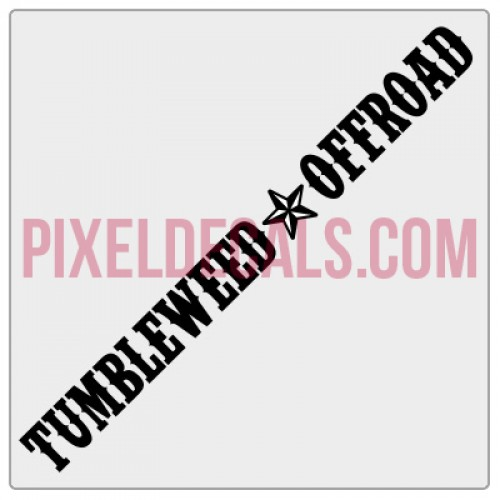Tumbleweed Offroad Banner Decal