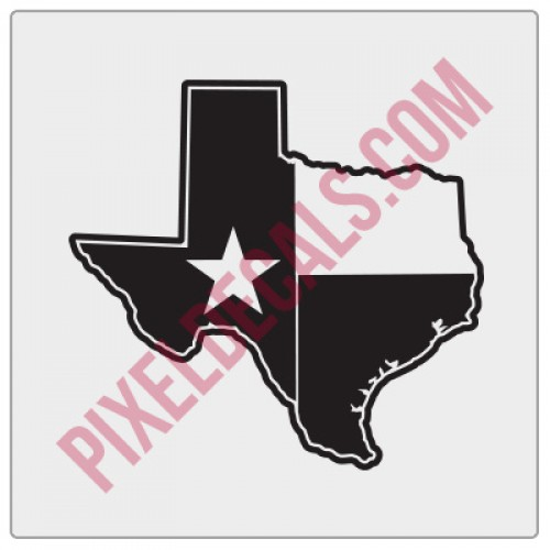 Texas Flag State Shape Decal