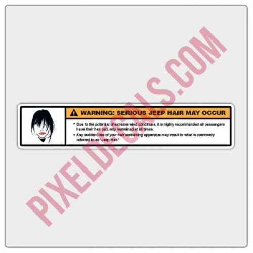 Jp Hair Visor Decal - Small/Passenger