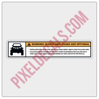 Maintained Roads/Mommy Visor Decal - Small/Passenger