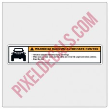 Alternate Routes Visor Decal - Small/Passenger