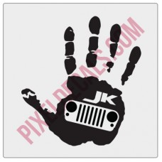JK Grille Wave Decal