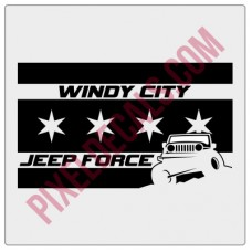 Windy City Jp Force Flag Decal