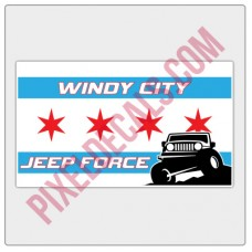 Windy City Jp Force Full Color Flag Decal