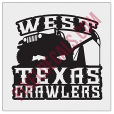 West Texas Crawlers Fender Decal