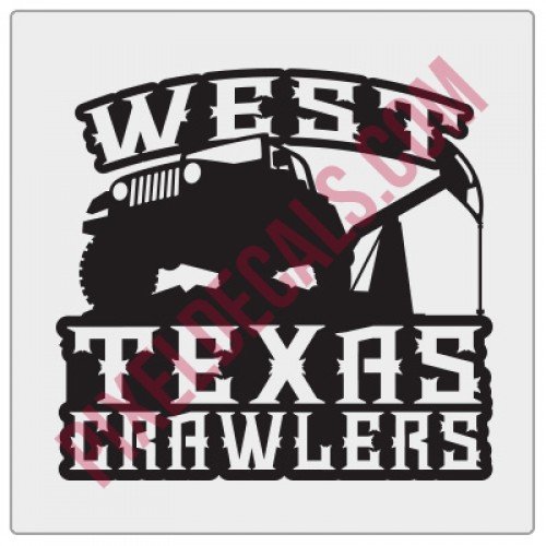 West Texas Crawlers Fender Decal