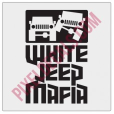 White Jp Mafia Fender Decal