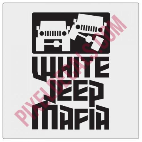 White Jp Mafia Fender Decal