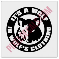 A Wolf in Wolf's Clothing Decal - Version 3