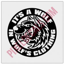 A Wolf in Wolf's Clothing Decal - Version 1