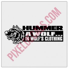 A Wolf in Wolf's Clothing Decal - Version 2