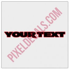JK Fender Decals - Customizable - 1 Line - 2 Color (Pair)