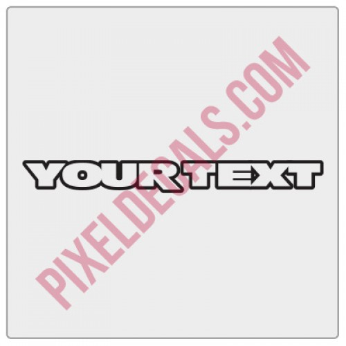 JK Fender Decals - Customizable - 1 Line - Outline (Pair)