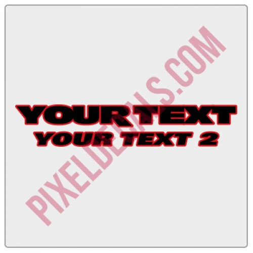 JK Fender Decals - Customizable - 2 Line - 2 Color (Pair)
