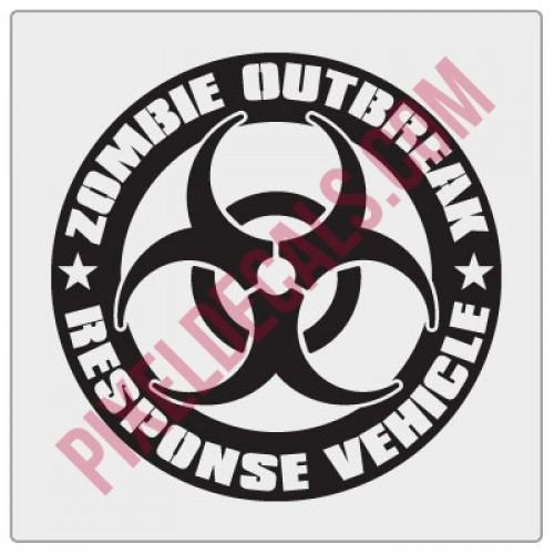 Zombie Outbreak Response Vehicle Biohazard Decal